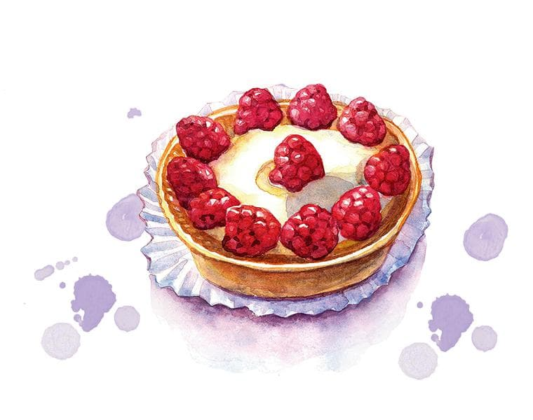 Illustration einer Himbeertorte