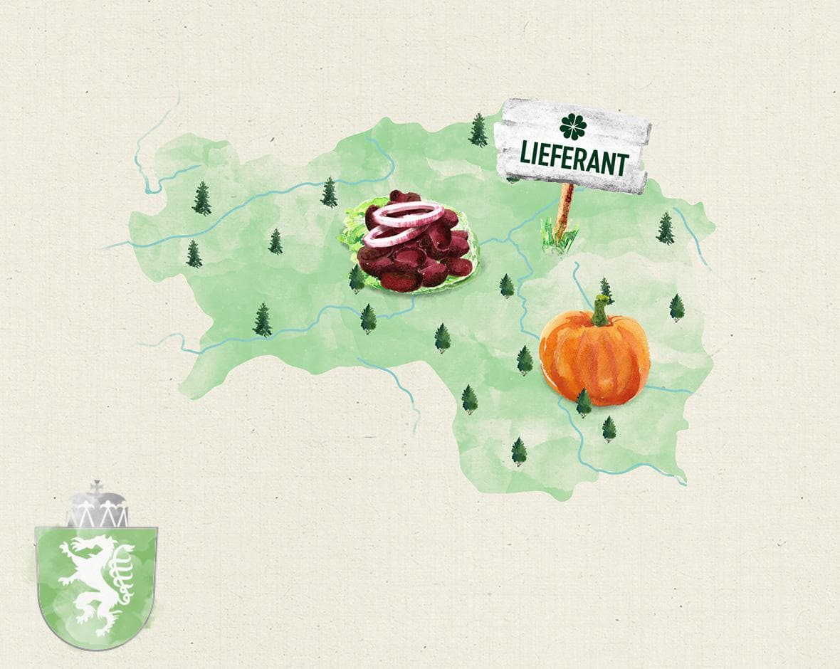 Illustration Karte Steiermark